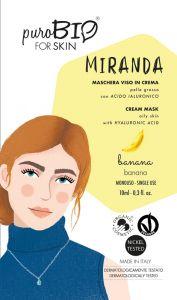Miranda - Maschera viso in crema per Pelle Grassa con Acido Ialuronico - PuroBio