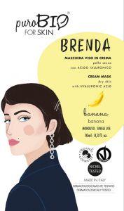 Brenda - Maschera viso in crema per pelle secca con Acido Ialuronico - PuroBio