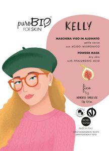Kelly - Maschera viso in alginato per pelle secca con Acido Ialuronico - PuroBio